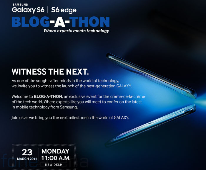 """""""Galaxy S6, S6 Edge launch date in India"""""""