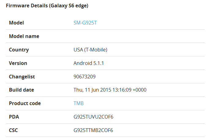 """Android 5.1.1 update for Galaxy S6 Edge"""