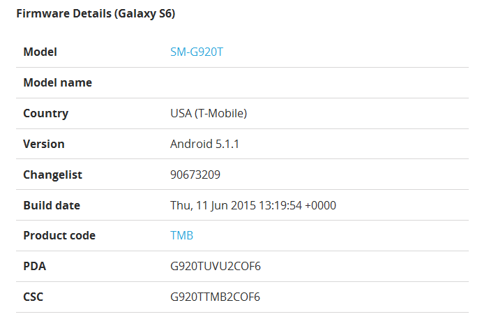"""Android 5.1.1 update for Galaxy S6"""